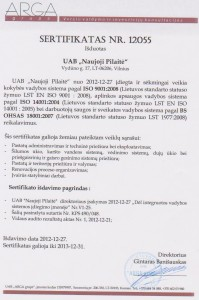 ISO sertifikatas iki 2013-12-31